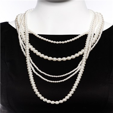Karma Layered Pearl Necklace