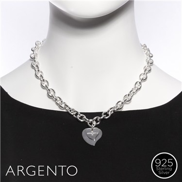 Argento Tiffany Style Heart Necklace