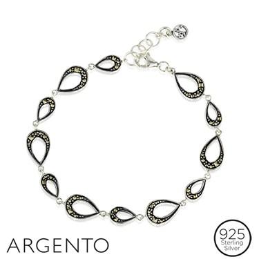 Argento Marcasite Teardrop Bracelet