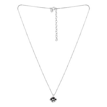 Argento Oxidised Flower Necklace