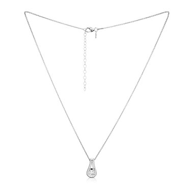 Argento Solitaire Cradled Crystal Necklace  - Click to view larger image