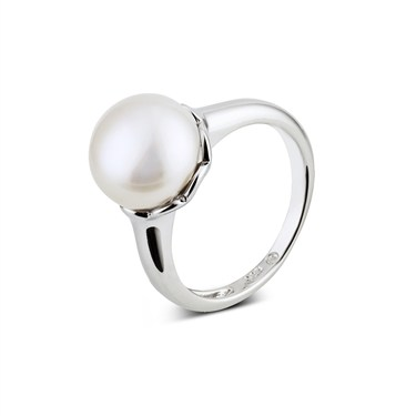 Argento Solitaire Pearl Ring  - Click to view larger image