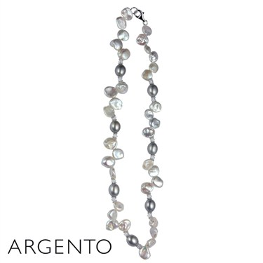Argento Grey and White Pearl Necklace