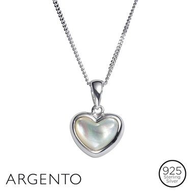 Argento Pearl Heart Necklace