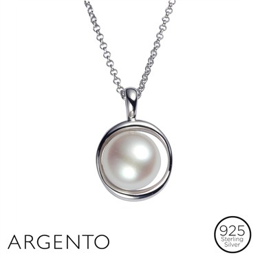 Argento White Pearl Necklace