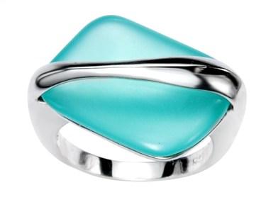 Argento Turquoise Irregular Ring