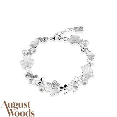 August Woods White Mix Flower Bracelet