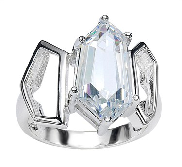 Argento Single Crystal Ring