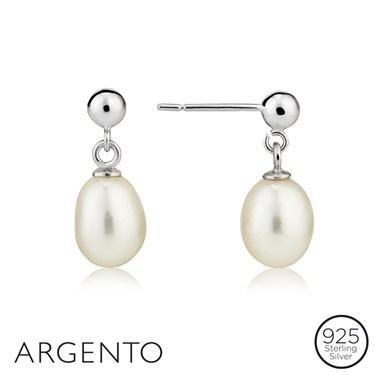 Argento Classic Pearl Drop Earrings