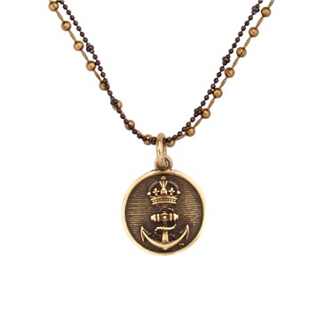 Karma Gold Anchor Coin Necklace