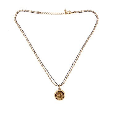 Karma Gold Bee Coin Necklace