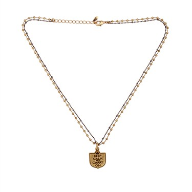 Karma Gold Keep Calm Coin Necklace