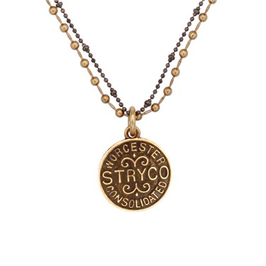 Karma Gold Stryco Coin Necklace