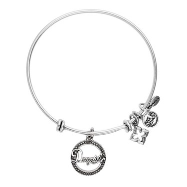 Karma Silver Daughter Coin Bangle   - Click to view larger image