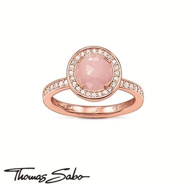 Thomas Sabo Rose Quartz Ring  - Click to view larger image