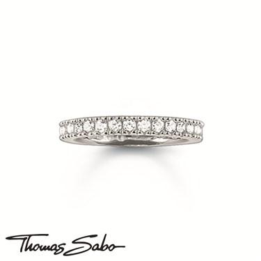 Thomas Sabo Silver Crystal Band Ring  - Click to view larger image