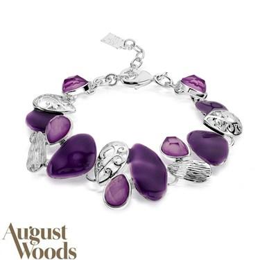 August Woods Purple Eclectic Pebble Bracelet