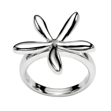 Argento Small Flower Petal Ring