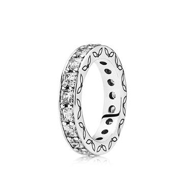 PANDORA Nostalgic Memories Cubic Zirconia Eternity Ring