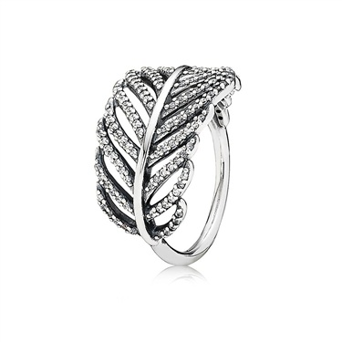 PANDORA Pavé Feather Ring  - Click to view larger image