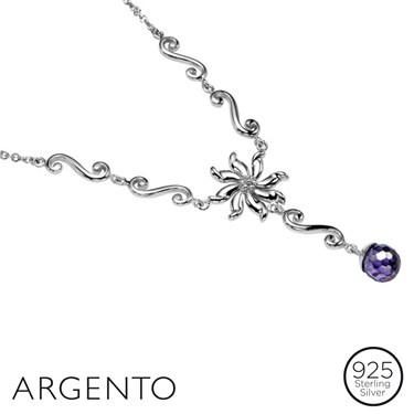 Argento Necklace With Flowers