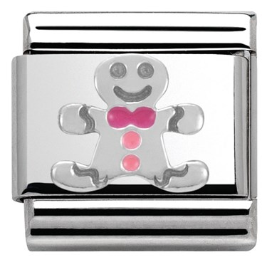 Nomination SilverShine Gingerbread Man Charm  - Click to view larger image