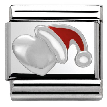 Nomination SilverShine Santa Heart Charm  - Click to view larger image