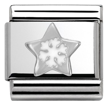 Nomination SilverShine Christmas Star Charm  - Click to view larger image