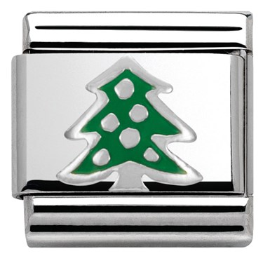 Nomination SilverShine Christmas Tree Charm  - Click to view larger image
