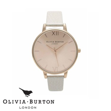 Olivia Burton Big Dial Mink & Rose Gold Watch   - Click to view larger image