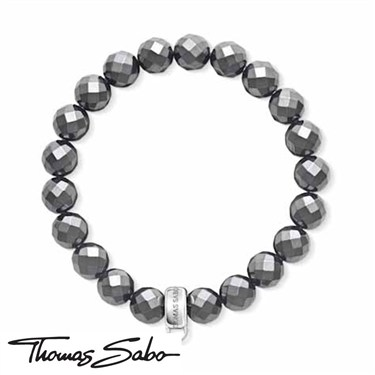 Thomas Sabo Hematite Charm Carrier Bracelet  - Click to view larger image