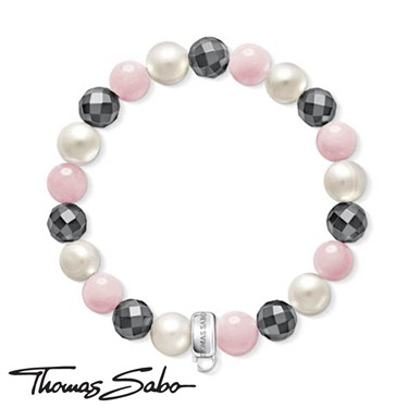 Thomas Sabo Multi Stone Charm Carrier  - Click to view larger image