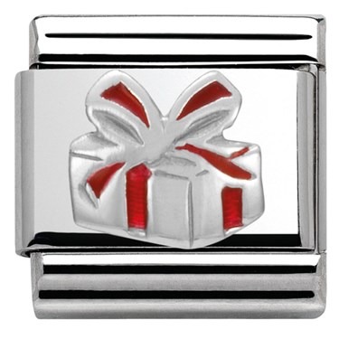 Nomination SilverShine Christmas Present Charm  - Click to view larger image