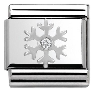 Nomination SilverShine Christmas Snowflake Charm  - Click to view larger image