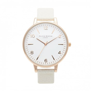 Olivia Burton Large White Face Mink Watch   - Click to view larger image