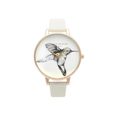 Olivia Burton Animal Motif Mink Hummingbird Watch   - Click to view larger image