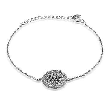 Argento Arabesque Disc Bracelet  - Click to view larger image