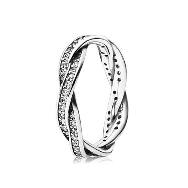 Pandora Pavé Twist of Fate Ring  - Click to view larger image
