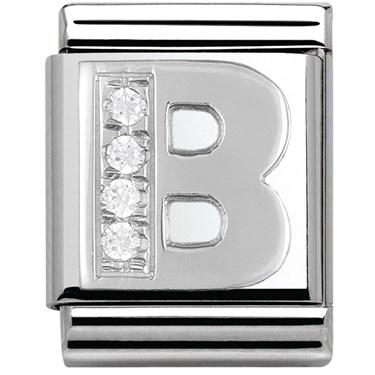 Nomination BIG Crystal Letter B Charm  - Click to view larger image