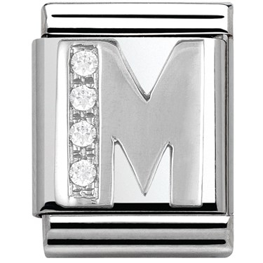 Nomination BIG Crystal Letter M Charm  - Click to view larger image