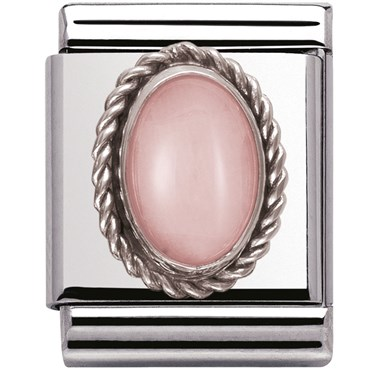 Nomination BIG Pink Opal Charm   - Click to view larger image