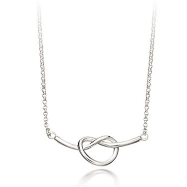 Argento Silver Pretzel Necklace