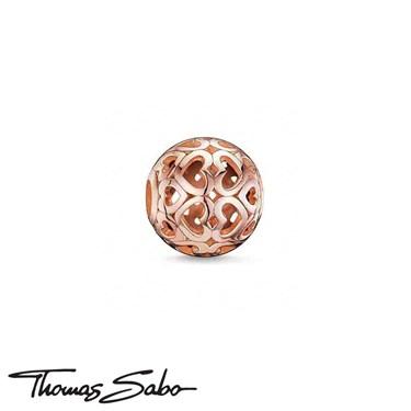 Thomas Sabo Karma Bead Rose Gold Hearts  - Click to view larger image