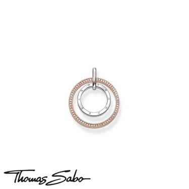 Thomas Sabo Thomas Sabo Rose Gold Circles Pendant  - Click to view larger image