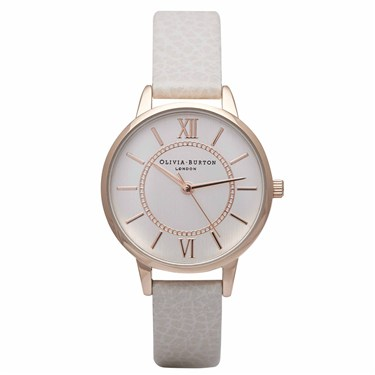 Olivia Burton Mink & Rose Wonderland Watch  - Click to view larger image