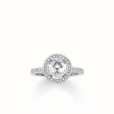 Thomas Sabo Clear CZ Halo Ring  - Click to view larger image