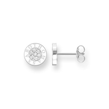Thomas Sabo Classic Silver Pave Round Studs  - Click to view larger image