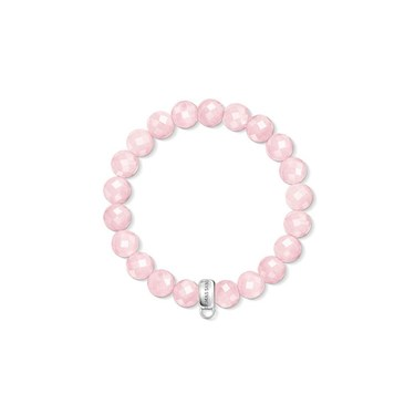 Thomas Sabo Rose Quartz Carrier Bracelet  - Click to view larger image