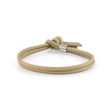 Nomination Beige Leather My Bon Bons Bracelet  - Click to view larger image