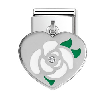 Nomination Heart with Flower Charm